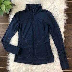 [GAPFit] Full Zip Jacket Zip Pockets Navy Small